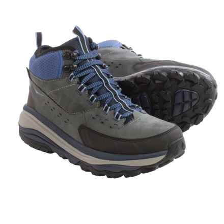 Hoka One One Tor Summit Mid Hiking Boots - Waterproof (For Women) in Steel Grey/Hydrangea - Closeouts
