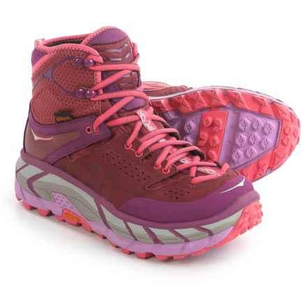 Hoka One One Tor Ultra Hi Hiking Boots - Waterproof (For Women) in Dark Plum/Purplish Brown - Closeouts