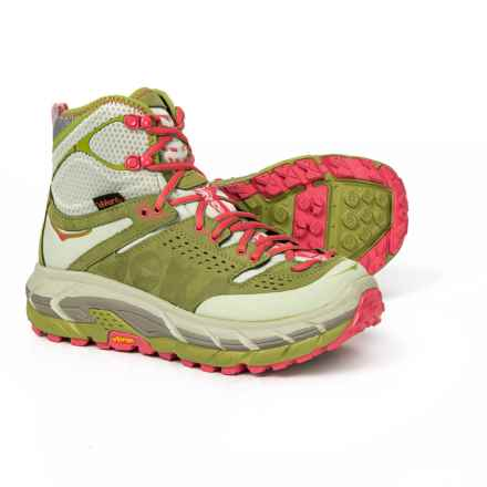 Hoka One One Tor Ultra Hi Hiking Boots - Waterproof (For Women) in Fog Green/Olive - Closeouts