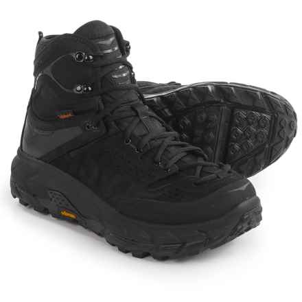 Hoka One One Tor Ultra Hi WP Hiking Boots - Waterproof (For Men) in Black - Closeouts