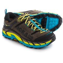 Hoka One One Tor Ultra-Low Hiking Shoes - Waterproof (For Men) in Grey/Cyan - Closeouts