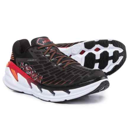 Hoka One One Vanquish 3 Running Shoes (For Men) in Black/Formula One - Closeouts