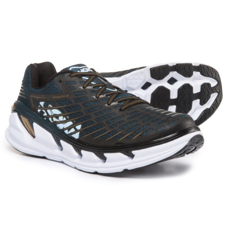 Hoka One One Vanquish 3 Running Shoes (For Men) in Midnight Navy/Metallic Gold