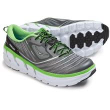 Hoka One One Vanquish Running Shoes (For Men) in Grey/Green Flash - Closeouts