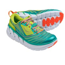 Hoka One One Vanquish Running Shoes (For Women) in Acid/Aqua/Neon Coral - Closeouts