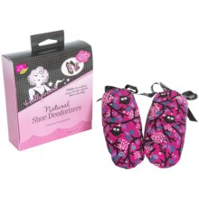 Hollywood Fashion Secrets Natural Shoe Deodorizers - Pair in Pink Floral - Closeouts