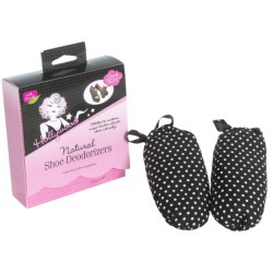 Hollywood Fashion Secrets Natural Shoe Deodorizers - Pair in Polka Dot