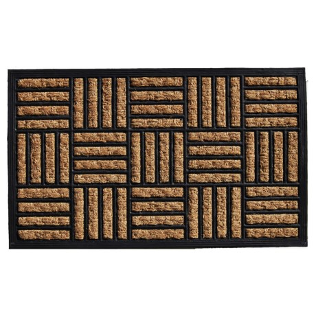 "Home and More Baron Coir-Rubber Doormat - 18x30"" in Natural/Black"