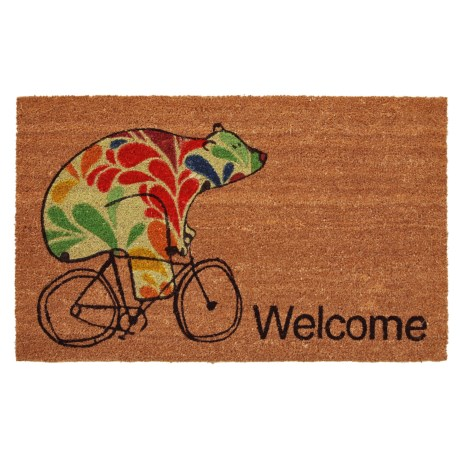"""Home and More Bear Fun Coir Welcome Mat - 24x36"""" in Multi"""