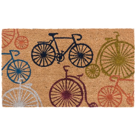 "Home and More Bicycle Doormat - 17x29"", Coir in Bicycles"