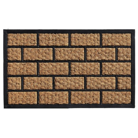 "Home and More Brickmann Coir-Rubber Doormat - 18x30"" in Natural/Black"