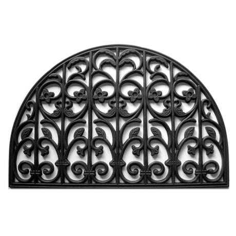 "Home and More Carrington Half-Moon Rubber Doormat - 24x36"" in Black"