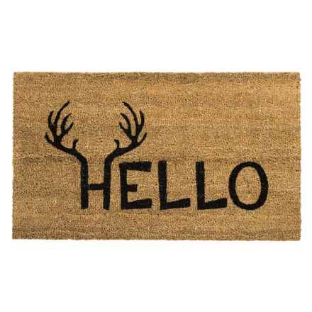 """Home and More Coir Entry Mat - 17x29"""" in Antler Hello - Closeouts"""