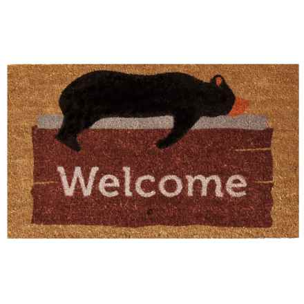 "Home and More Coir Entry Mat - 17x29"" in Lazy Bear Welcome - Closeouts"