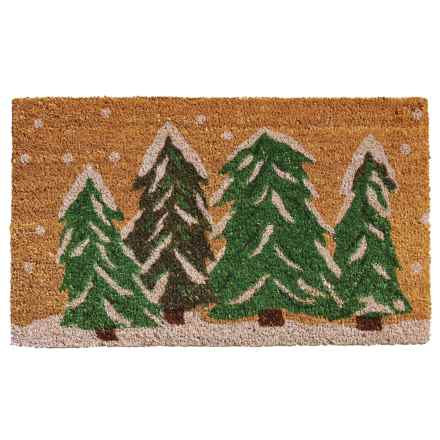 """Home and More Coir Entry Mat - 17x29"""" in Snow Trees - Closeouts"""