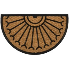 Home and More Half Moon Doormat - Coir and Rubber in Celeste - Closeouts
