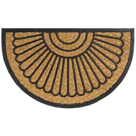 Home and More Half Moon Doormat - Coir and Rubber in Sun Ponte - Closeouts