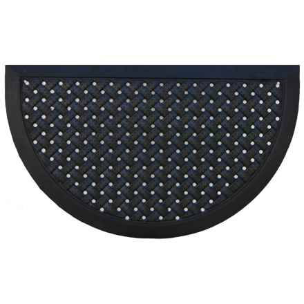 """Home and More Half Moon Rubber Iron Doormat - 18x30"""" in Basketweave - Closeouts"""