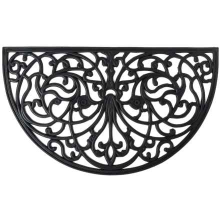 """Home and More Half Moon Rubber Iron Doormat - 18x30"""" in Iris - Closeouts"""