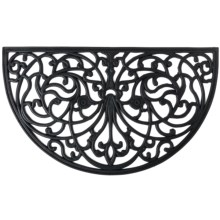 Home and More Half Moon Rubber Iron Doormat in Iris - Closeouts