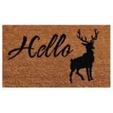 """Home and More Hello Elk Coir Doormat - 17x29"""""""