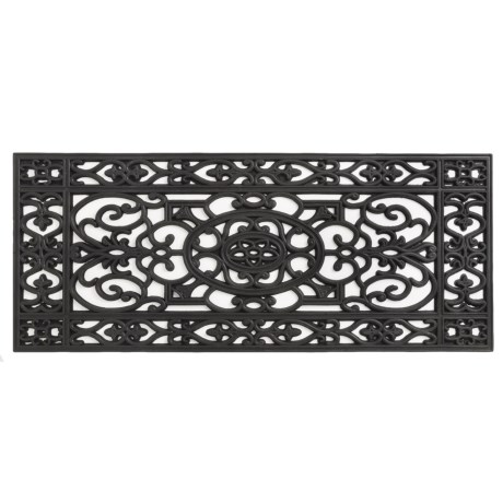 "Home and More Iron Rubber Doormat - 17x41"" in Scroll"
