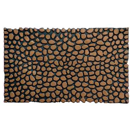 """Home and More Pebble Rubber Doormat - 18x30"""" in Bronze - Closeouts"""