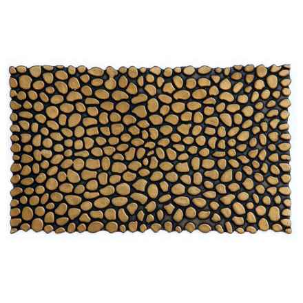 "Home and More Pebble Rubber Doormat - 18x30"" in Gold - Closeouts"