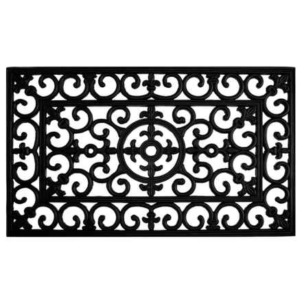 "Home and More Rubber Iron Doormat - 24x36"" in Fleur De Lis - Closeouts"