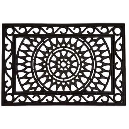 """Home and More Rubber Iron Doormat - 24x36"""" in Sunburst - Closeouts"""