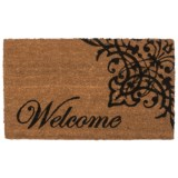 Home and More Scroll Welcome Doormat - 17x29""