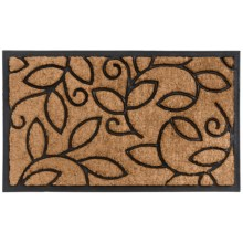 "Home and More Vine Leaves Doormat - Coir and Rubber, 18x30"" in Vine Leaves - Closeouts"