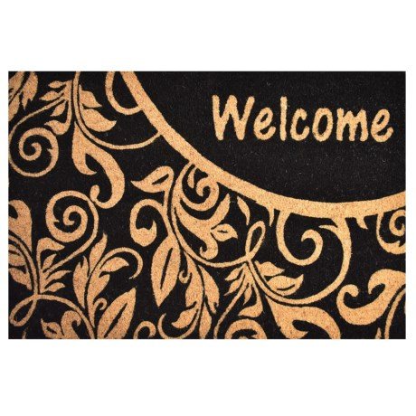 """Home and More Welcome Vine Coir Doormat - 24x36"""" in Black/Natural"""