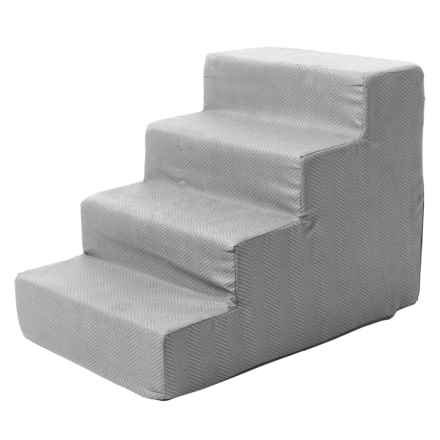 Home Base Herringbone High-Density Foam Steps in Grey - Closeouts