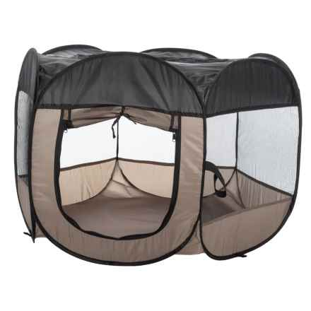 Home Base Pop-Up Pet Play Pen - Large in Brown - Closeouts