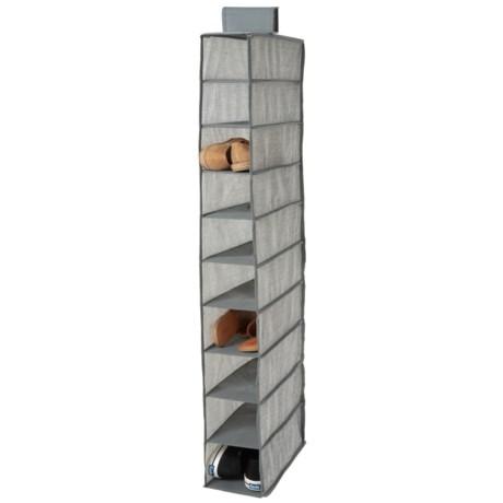 Home Basics 10-Shelf Hanging Closet Organizer in Grey