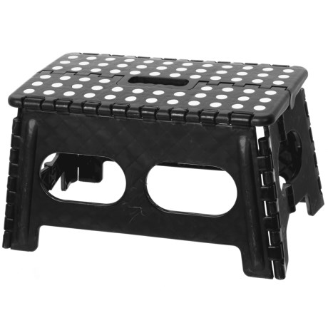 Home Basics Basic Wide Folding Stool in Black