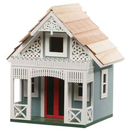 Home Bazaar Angel Cottage Birdhouse in Grey/White - Closeouts