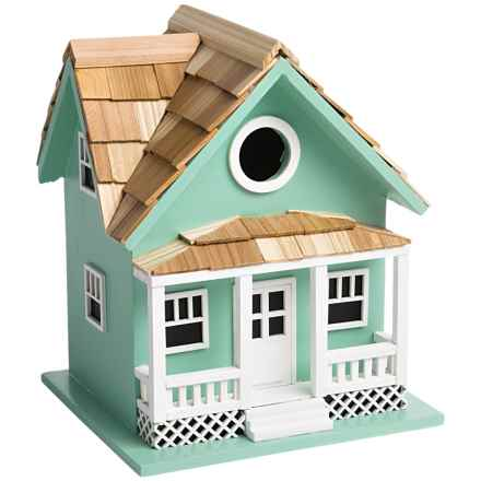 Home Bazaar Beachside Cottage Birdhouse in Seafoam - Closeouts