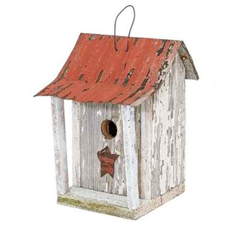 Home Bazaar Beavertown Bird Shack in White/Red - Closeouts