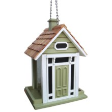 Home Bazaar Bellport Cottage Hanging Bird Feeder in Sage - Closeouts
