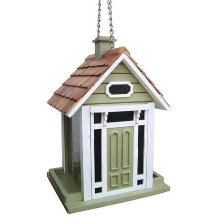 Home Bazaar Bellport Cottage Hanging Bird Feeder in Sage - Closeouts