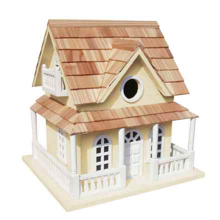 Home Bazaar Cape May Cottage Birdhouse in Yellow - Closeouts