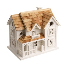 Home Bazaar Classic Series Kingsgate Cottage Bird House in White - Closeouts