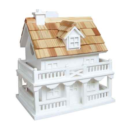 Home Bazaar Colonial Cottage Birdhouse in White - Closeouts