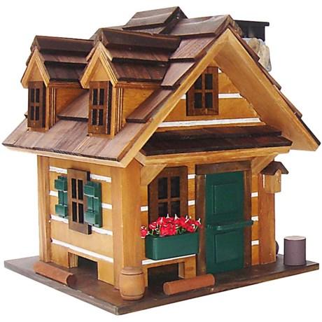 """Home Bazaar Country Comfort Bird Feeder - 10.75"""" in Brown/Green"""