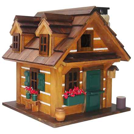 Home Bazaar Country Comfort Birdhouse in Brown/Green - Closeouts