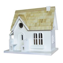 Home Bazaar Cozy Cottage Birdhouse in White - Closeouts
