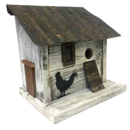 Home Bazaar Cumberland Chicken Coop Birdhouse in White - Closeouts