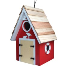 Home Bazaar Dockside Birdhouse in Red - Closeouts